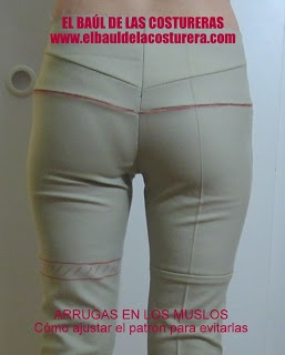 pantalon: suppprimer les plis sous les fesses - EL BAÚL DE LAS COSTURERAS: Arrugas en los muslos del pantalón
