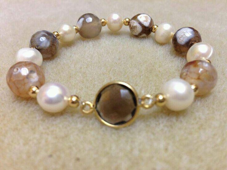 pulsera de perla de ri con jaspe musgoso facetado resultado de imagen para como hacer