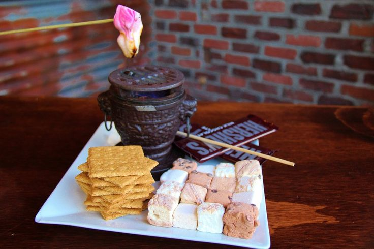 Tavern On 2 -Belmont Shore, Long Beach, CA, United States. Campfire S'Mores! - graham crackers, Hershey's chocolate, original and plush artisan marshmallows to roast over an open flame and then you create the s'mores yourself right at your own table!