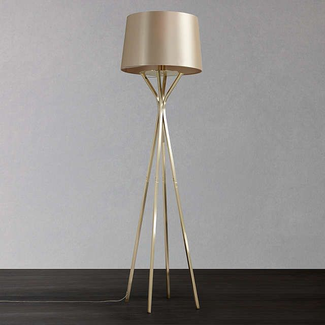 John Lewis Wilfred Floor Lamp, Brass at John Lewis