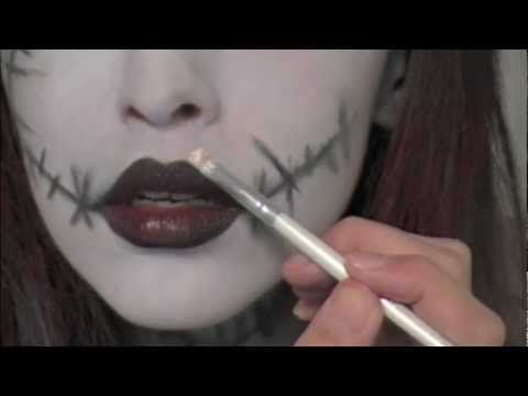 Tim Burton's 'Sally' - Inspired Makeup Tutorial