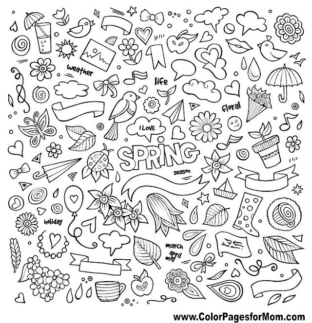 Doodle Coloring Page Color Pages For Mom Coloring