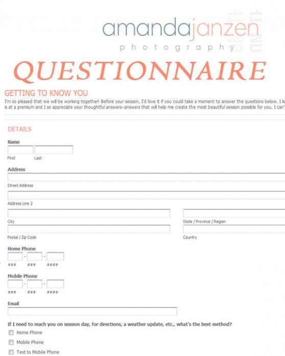Client Questionnaire Getting To Know You Amanda Janzen Photography Central Kansas Weddingphotography Questionsforclients