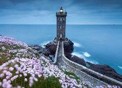 Morze, Niebo, Latarnia, Morska, Droga, Kwiaty