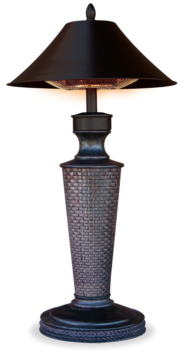 """Table Lamp Outdoor Electric Heater - """"Vacation Day"""""""