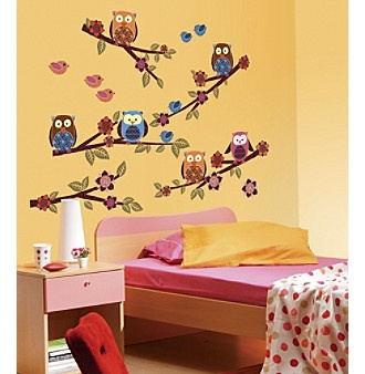 owls and branches wall decals 118 pc set quick information owl bedrooms