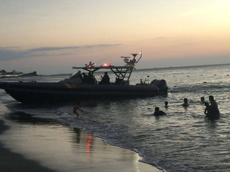 Colombian naval police rescue a lost sailor
