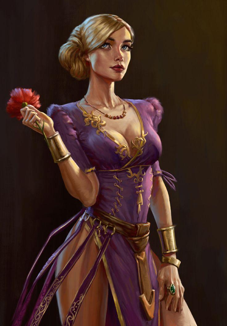 Red flower, Nikita Volobuev on ArtStation at https://www.artstation.com/artwork/3NkoD