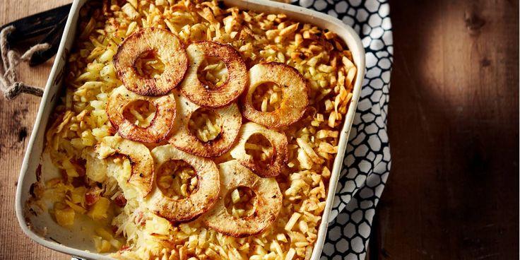 Boodschappen - Zuurkoolschotel met appel en spekjes