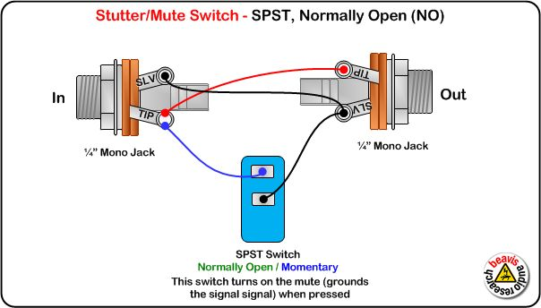 Mute Switch  Spst  Normally Open Wiring Diagram