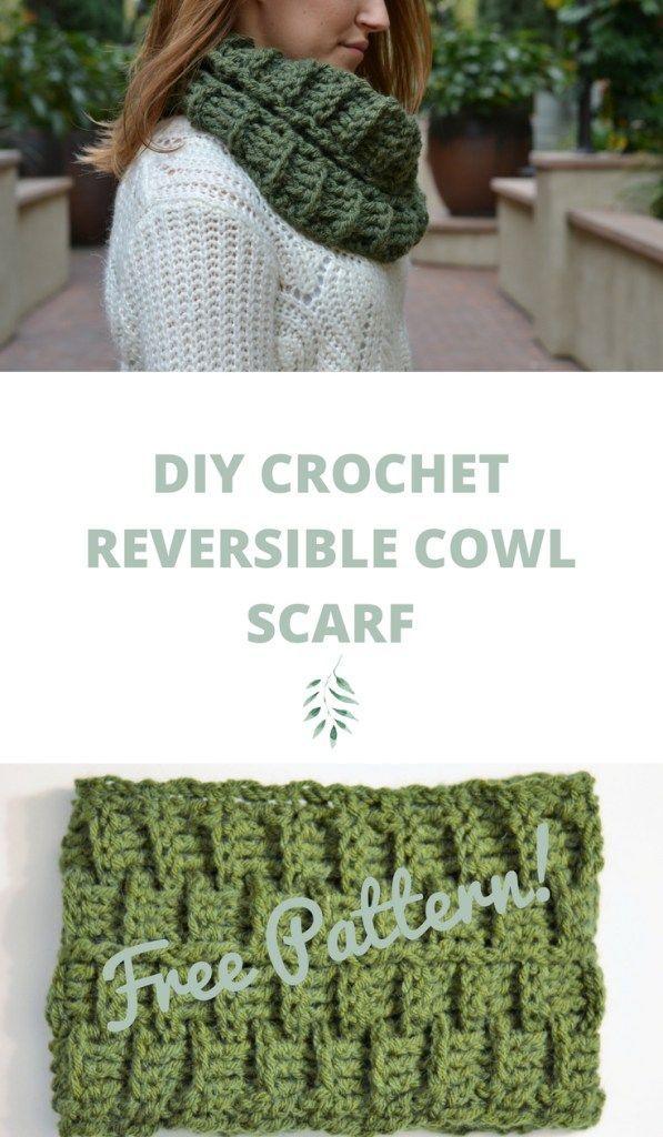 Reversible Crochet Cowl Pattern - The Jade Cowl - DIY Reversible ...