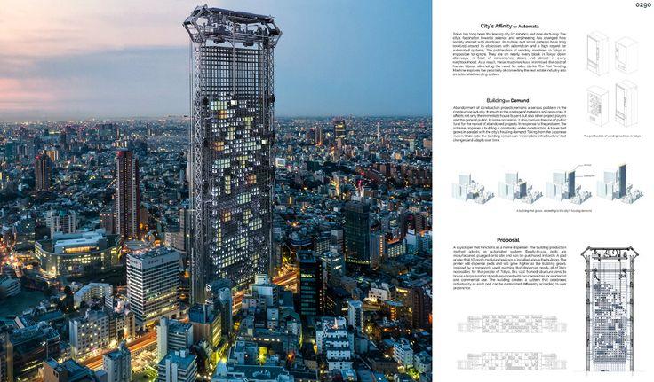 Pod Skyscraper design is a vending machine for apartments