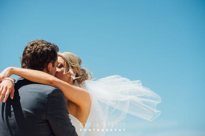 Wedding photos on the Beach #beach #wedding #kiss