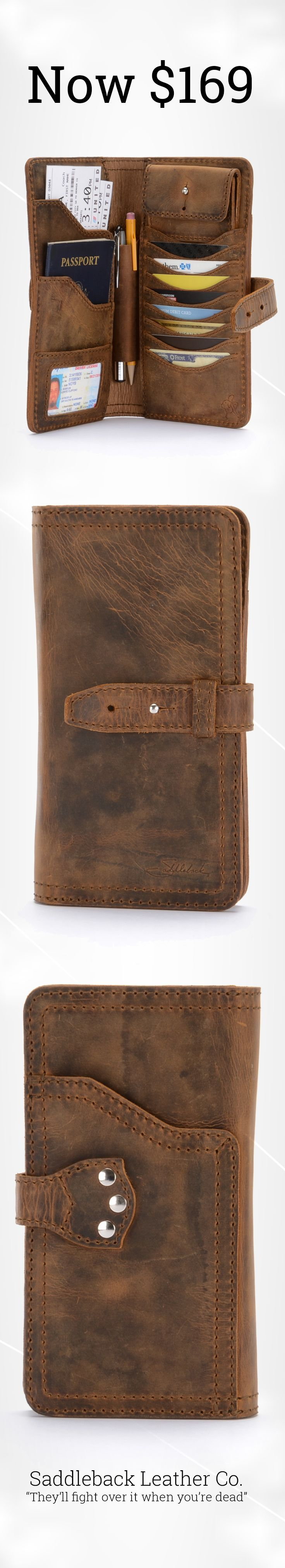 The Big Leather Wallet | Full Grain Leather | 100 Year Warranty | $169.00