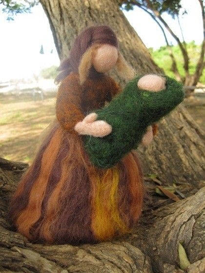 Needle felted Mother Earth- amazing etsy shop