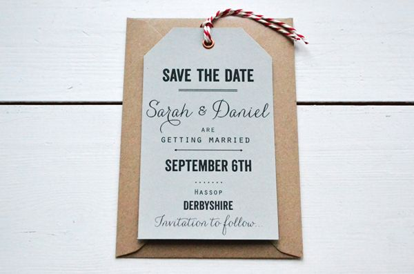 vintage luggage tag save the date @lucysaysido