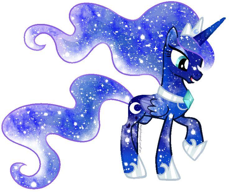 Galaxy Rainbow Power Luna by DigiTeku.deviantart.com on @deviantART