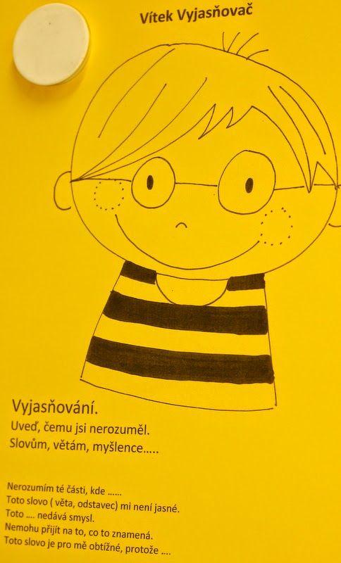 Vítek Vyjasňovač - karta k rozvoji čtenářské dovednosti