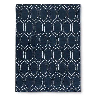 Threshold™ Dot Tile Rug.  Navy blue or deep gray.  5x7 $72     7x10 $143