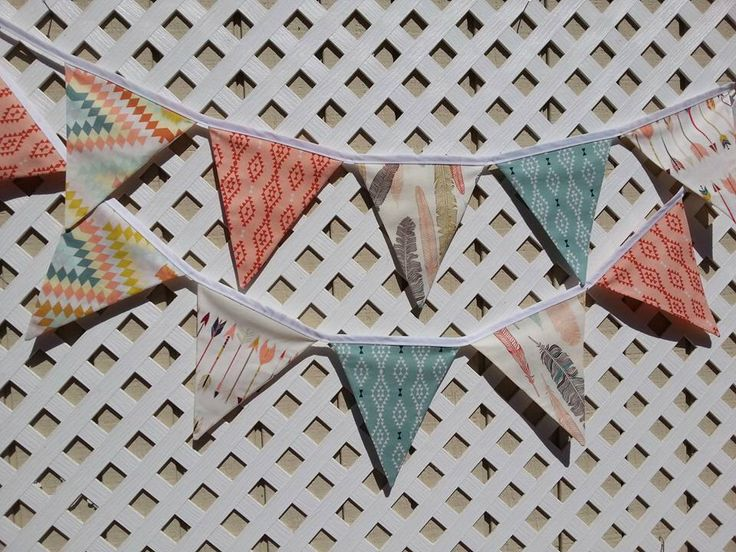 Aztec Banner Bunting, FABRIC Banner, Tribal Bridal Shower Arrows Banner, Arrow Nursery Fabric Banner, Teal, Blue, Orange Southwestern Banner by GmaCustom4You on Etsy https://www.etsy.com/listing/235293915/aztec-banner-bunting-fabric-banner