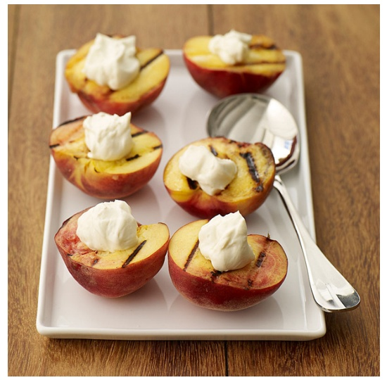 Grilled Peaches With Sweetened Sour Cream Recipes — Dishmaps