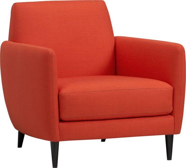 Beautiful Parlour Atomic Orange Chair   899   CB2 Part 20
