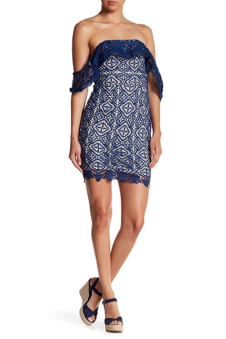Crochet Off-the-Shoulder Dress