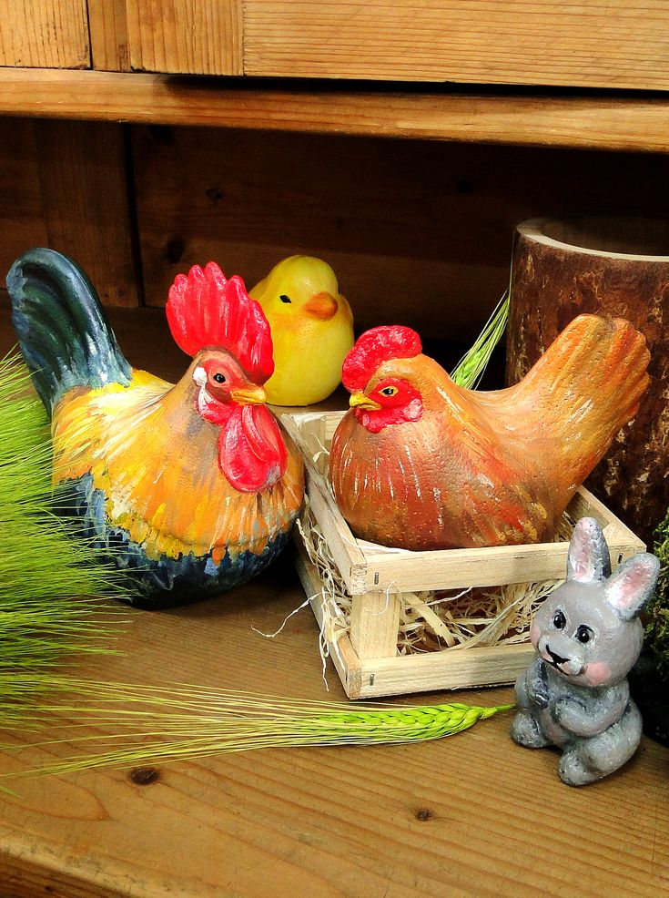 Vestitori ai primăverii au sosit la Noi! Figurinele noi din polistiren te așteaptă cu drag! 🐔🐰