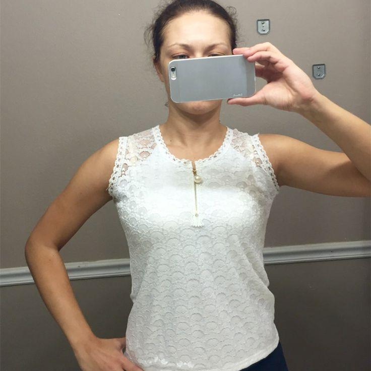 Летом стиль дамы труба топы кружева блузка рубашка новинка 2016 S XXXL фитнес сексуальный полые out рукавов белая майка женщин купить на AliExpress