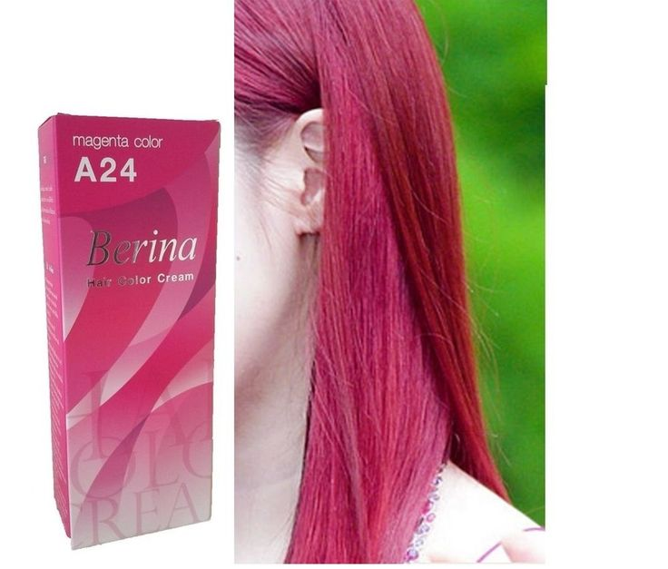 Berina A24 Magenta Color Permanent Hair Dye Various Unisex Style FREE SHIPPING #Berina