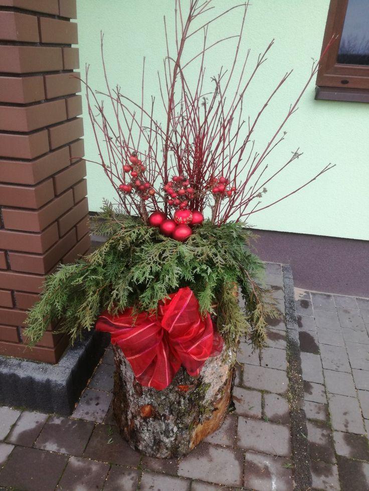 Świąteczny stroik ogrodowy