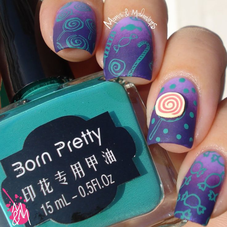 787 best nail art fall autumn and halloween images on pinterest got some more stamping for you today using born pretty stores teal stamping polish prinsesfo Choice Image