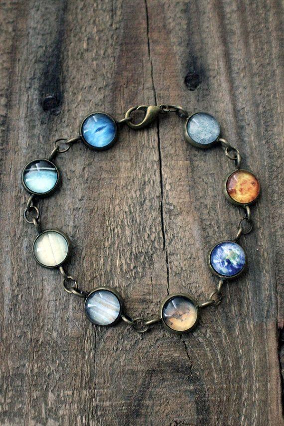 Solar System Bracelet Jerseymaids Etsy