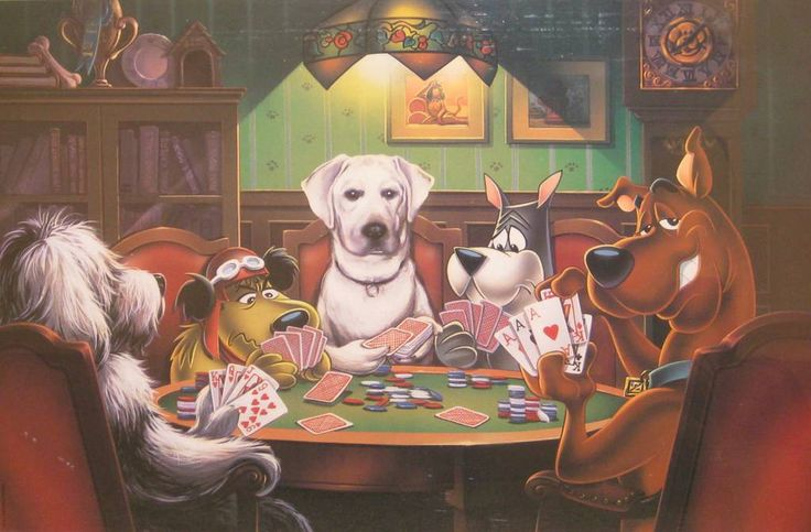 Scooby Doo Playing Poker