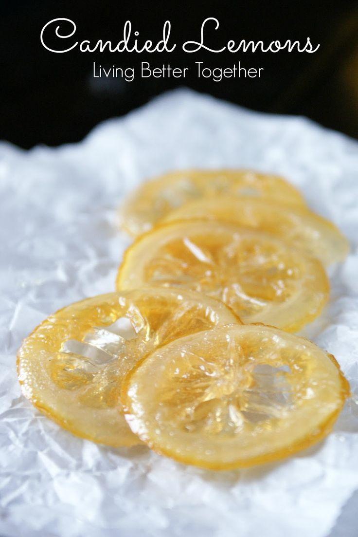 Candied Lemons www.livingbettertogether.com
