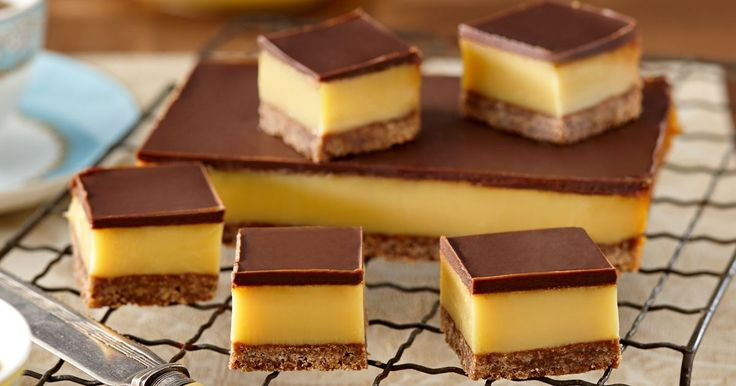 Dark chocolate and caramel are a delicious combination. This is a luscious treat for everyone to enjoy and it's really easy to slice.