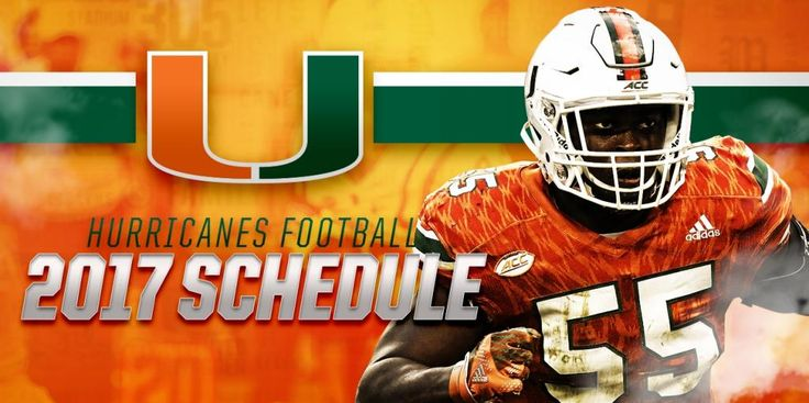 The University of Miami released its 2017 football schedule on Tuesday. The Hurricanes' slate is highlighted by seven home games at Hard Rock Stadium.
