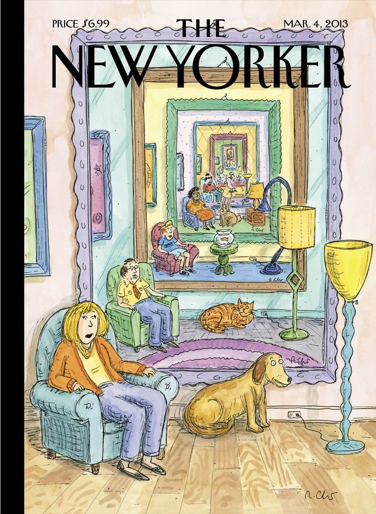 """The New Yorker - Monday, March 4, 2013 - Issue # 4487 - Vol. 89 - N° 3 - Cover """"Ad Infinitum"""" by Roz Chast"""