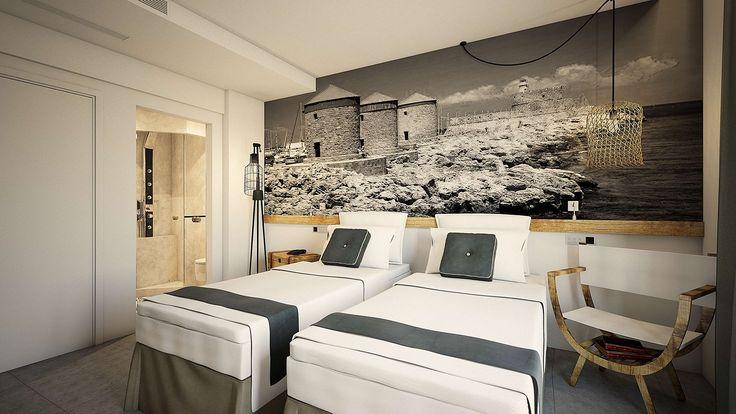 Milos Suite - Bedroom, Elakati Luxury Boutique Hotel, Rhodes , Greece