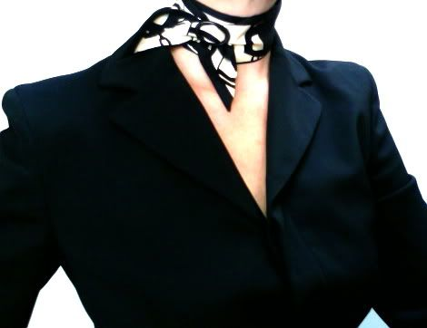 Classique scarf ring in Petite ~ with a Twilly (basic slide knot)