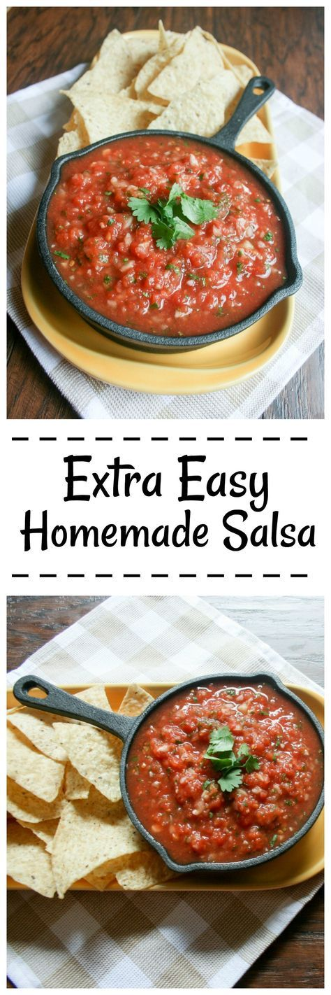 Homemade Mexican Restaurant Style Salsa is the greatest appetizer for Taco Tuesday or any other party or get together!