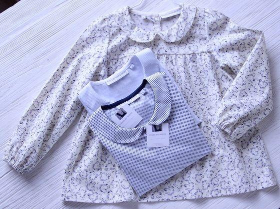 blouse {anna} chemise {sasha} pois ciel & marine www.misesenscene.fr http://instagram.com/misesenscene_paris