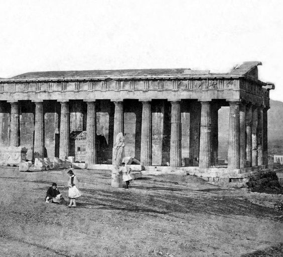 Thission, Athens - c.1854 (photo by James Robertson):