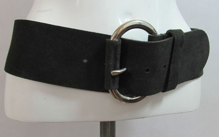 United colours of Benetton made in Italy black wide leather belt L/XL R15328 #style #fashion #love #woman #chic #eBay #BELT #sangriasuzie