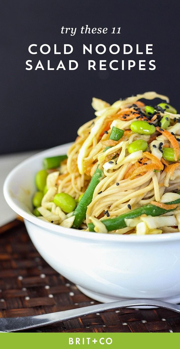 These 11 cold noodle salad recipes will be your new fave summer dinner.