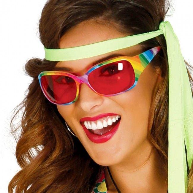 Gafas Hippie Multicolor para disfraces #gafasdisfraz #accesoriosdisfraz #accesoriosphotocall