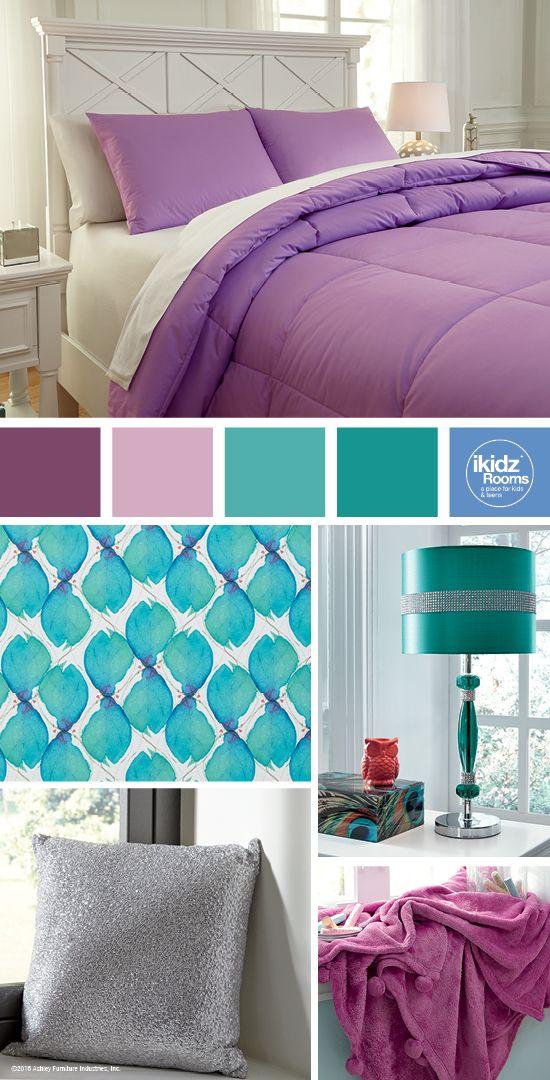 Plainfield Lavender Full Comforter Set   Purple And Teal Bedroom Color Ideas    IKidz Rooms®