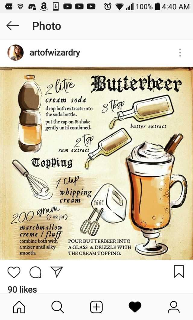 Happy New Years Eve Muggles Harry Potter Parties Food Harry Potter Butter Beer Harry Potter Cookbook