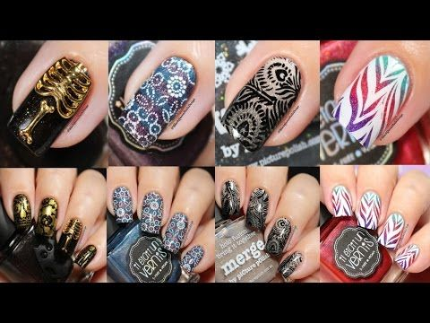 NEW Trend ☑️ in Nail Art 2017! Very Original Geometric Nail Design and Gel Nail Extensions Tutorial - YouTube