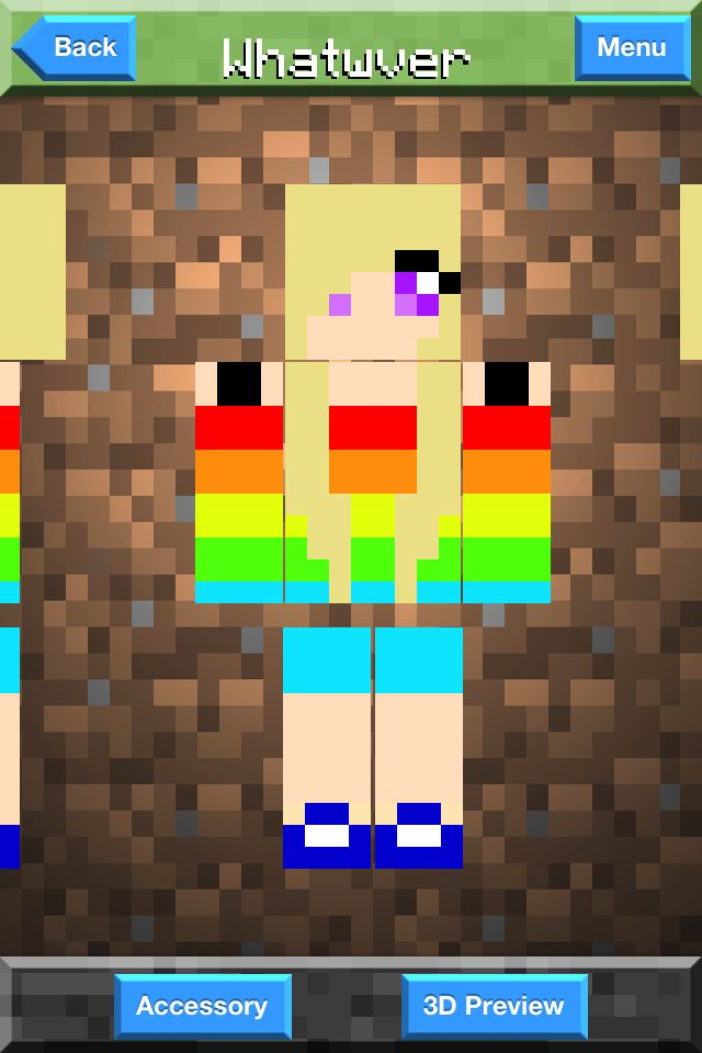 New Minecraft Skin It S A Girl With Purple Eyes Also With A